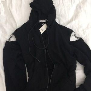 Black hook tunic hoodie
